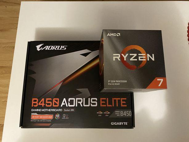 Profesor AMD Ryzen 7 3700x + Płyta główna B450 Aorus Elite