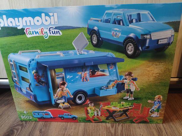 Pickup auto z przyczepą kempingową Playmobil okazja wysylka!