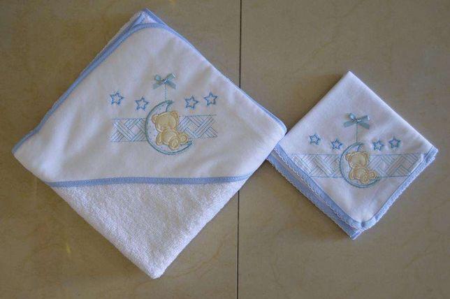 Toalha de banho + fralda de bebe iguais