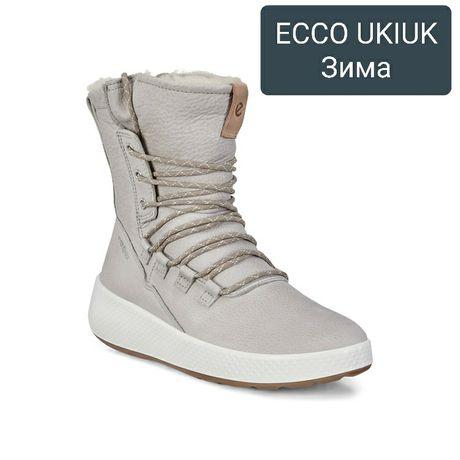 36,37,39-41р.Новые женские зимние ботинки сапоги Ecco Ukiuk 221053