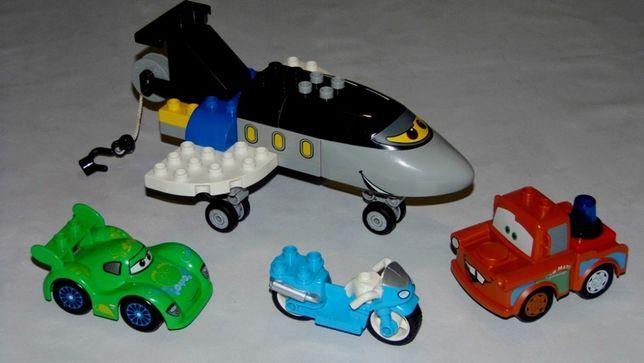 Pojazdy Lego Duplo Cars Ścigawa Samolot Złomek Motor Veloso Zestaw