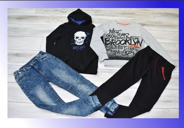 Zestaw nr 7, ubrania dla chłopca 134/140cm - spodnie, bluzy