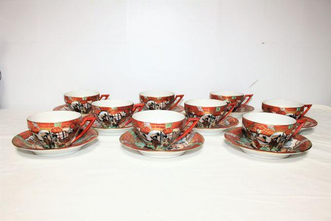 Vista Alegre, 9 chávenas com motivos chinês / japonês