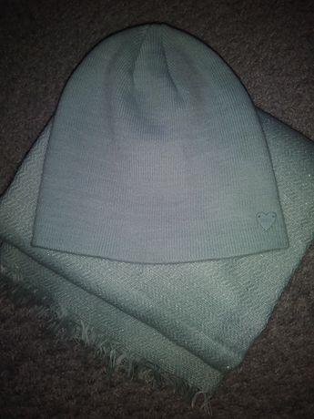 Turkusowy komplet czapka plus szalik