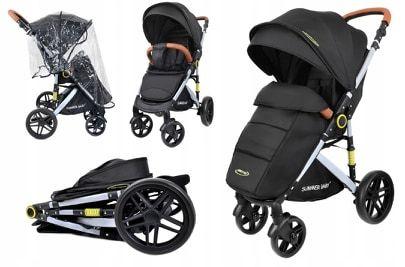 Nowoczesny wózek spacerowy SUMMER BABY model SEMPRE + Torba +Ocieplacz