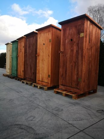 Toaleta Drewniana Przenośna Zwykła Solidna WC Wychodek szybka Realizac