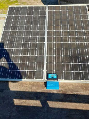 Panele fotowoltaiczne zestaw solarny 220W 12V