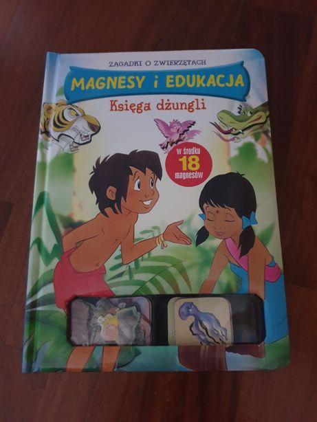 Księga dżungli - książka z magnesami