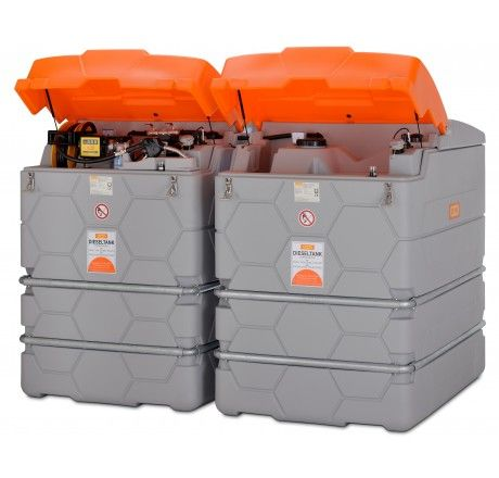 System zbiorników dwupłaszczowych CEMO CUBE Outdoor 7500l do ON