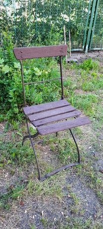 Krzesło ogrodowe stare antyk metalowe ,ozdoba,dekoracja, składane