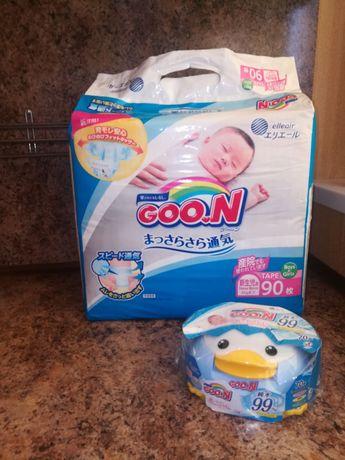 Goo.n лот (подгузники до 5 кг 90 шт, салфетки)