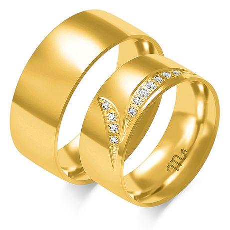Nataliebizu Złote Obrączki Ślubne z Brylantami