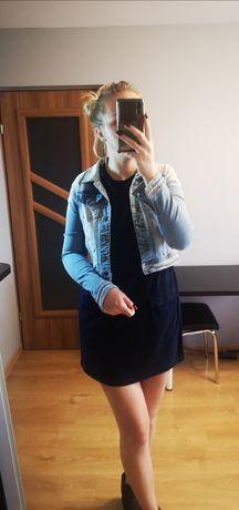 Kurtka jeansowa, krótka kurtka, niebieska kurtka, kurtka jeansowa S