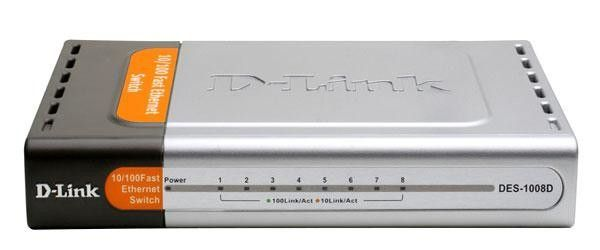 Коммутатор (switch) D-Link DES-1008D 8-ми портовый