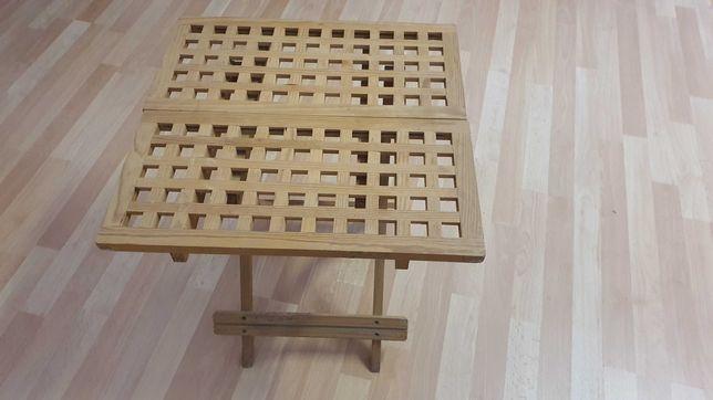 Mesa de apoio em madeira dobrável