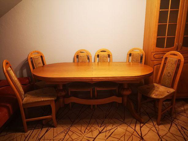 STÓŁ z szceścioma krzesłami