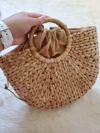Соломенная плетеная сумка ротанг плетеный ремень zara h&m