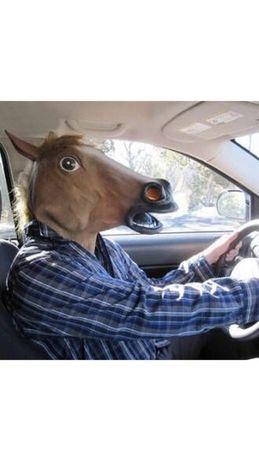 Maska maski gumowa lateksowe głowa konia