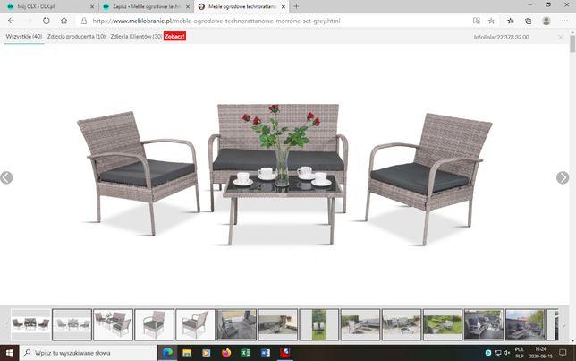 Meble ogrodowe technorattanowe Morrone Set Grey