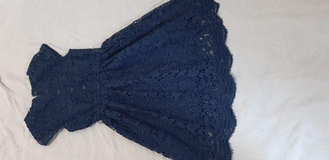 платье нарядное темно синее