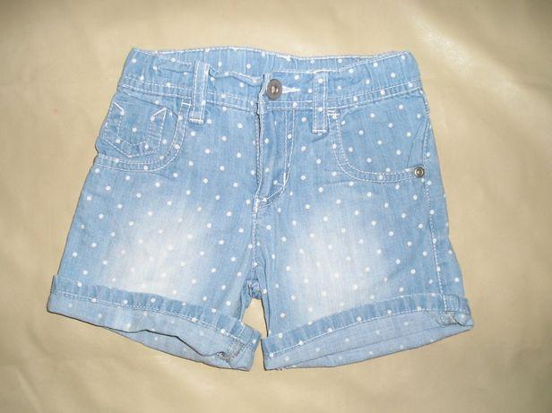 Шорты джинсовые на дев. 3-6 лет