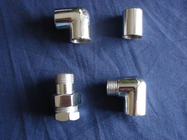 Kolanka, śrubunek, mufa hydrauliczne, chromowane G1/2
