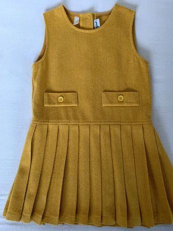 Sukienka żółta 110-116