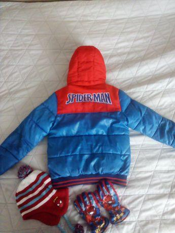 Kurtka chłopięca Spider-Man + czapka i rękawiczki