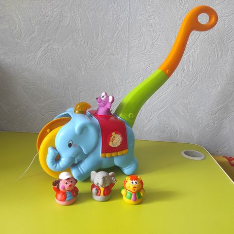 Каталка Kiddieland Слон-циркач