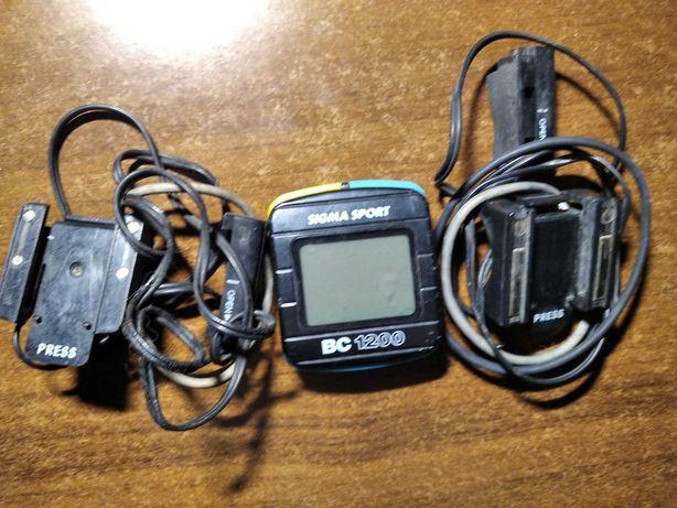 Велокомпьютер Sigma BC1200 c монтажными площадками на два велосипеда