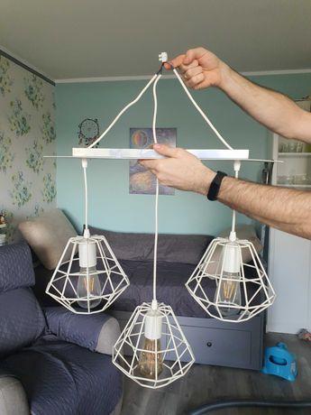 Lampa sufitowa geometryczna