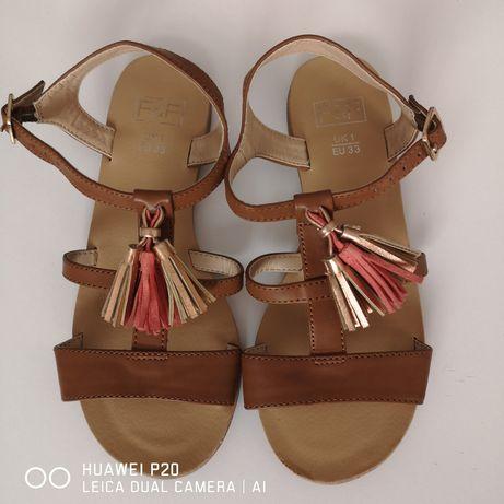Sandałki jak Nowe r. 33