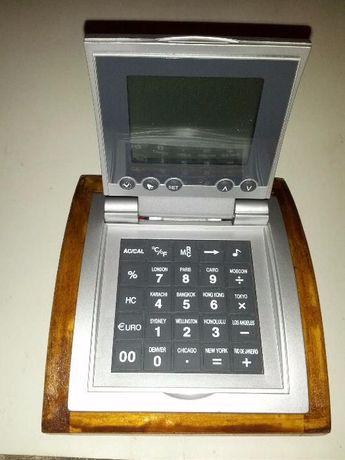 Aparelho multifunção, Relógio, despertador, calculadora, temperatura