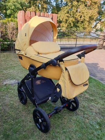 Żółty, oryginalny wózek Tutis VivaLife 2w1, gondola, spacerówka