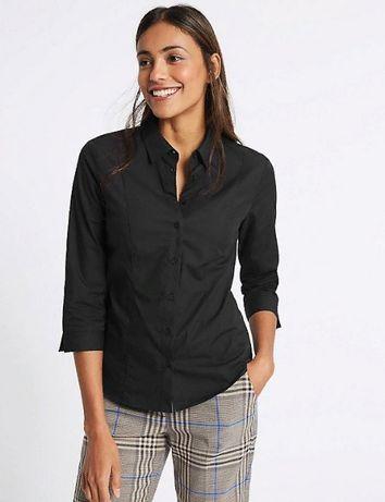Классическая черная рубашка большого размера