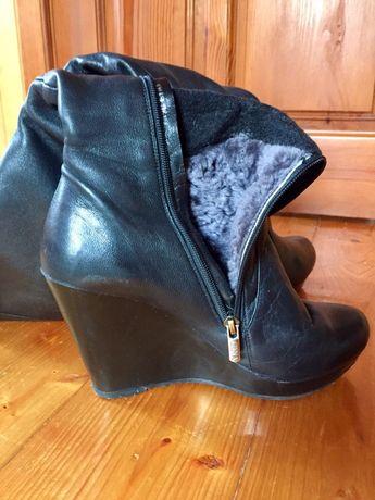 Шкіряне зимове взуття 39р.