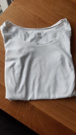 Biały ciążowy t-shirt rozmiar s