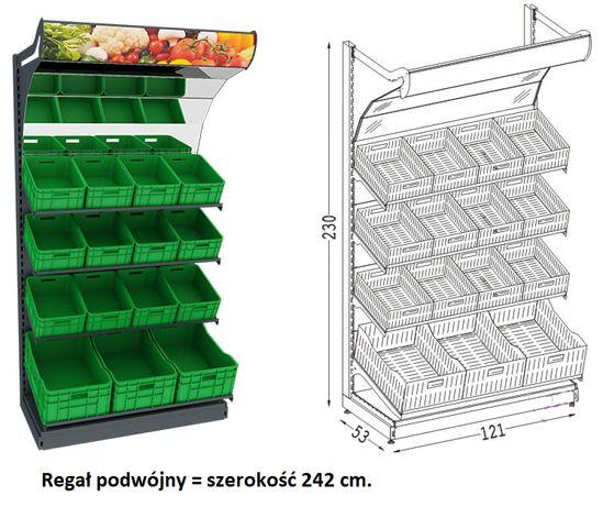 Regał warzywny podwójny
