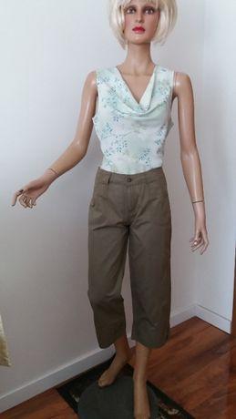 Spodnie oliwkowe, z haftem 3/4, NOWE r.42