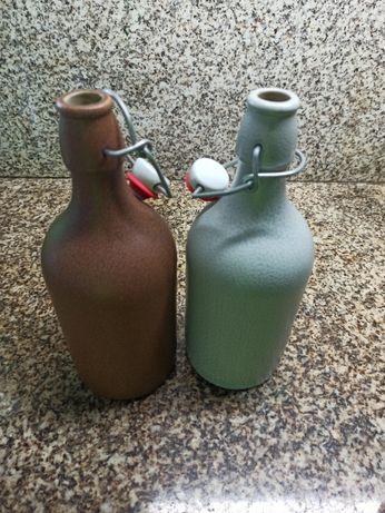 Garrafa de cerveja cerâmica com vedante