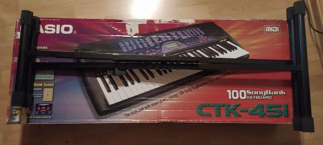 Keyboard organy Casio CTK-451 kompletny zestaw jak nowy stojak gratis