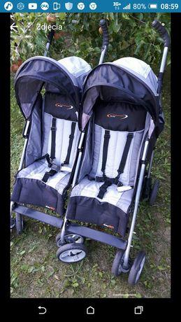 Wózek bliźniaczy rok po roku  podwójny dla bliźniaków Wysyłka