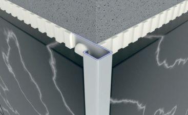 Профиль алюминиевый наружный квадратный для плитки 10мм; 12мм