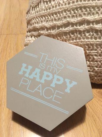 Drewniane pudełko This is my Happy Place