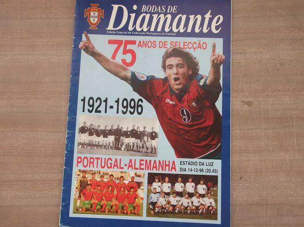 Revista FUTEBOL F.P.F.  - BODAS de DIAMANTE 1996
