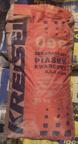Piasek kwarcowy dekoracyjny 25 kg