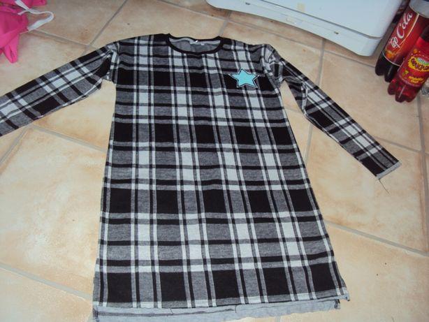 Sukienka tunika 164 xs/s jak nowa dzianinowa