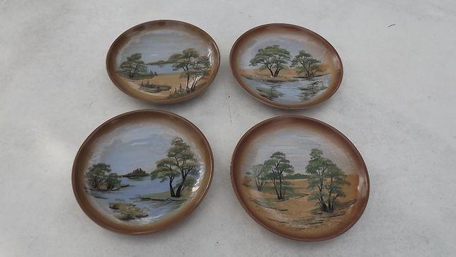 talerze dekoracyjne ręcznie malowane