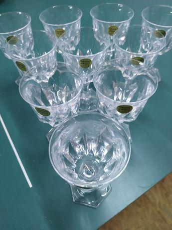 Kryształowe lampki do wina, szampana,10 sztuk. CENA Z WYSYŁKĄ.