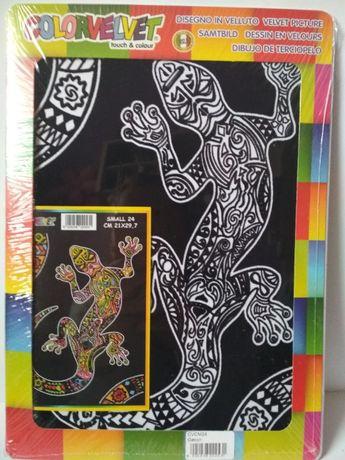 Kolorowanka z gekonem